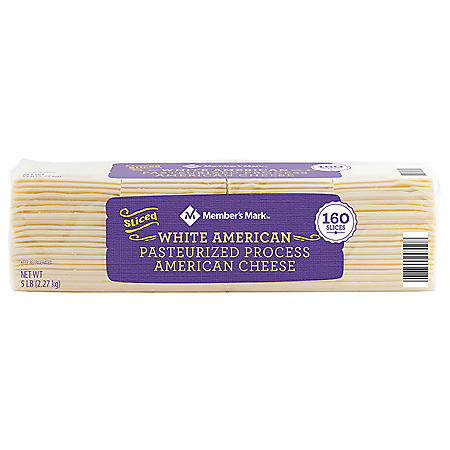Member's Mark White American Cheese Slices (160 slices, 5 lbs.)