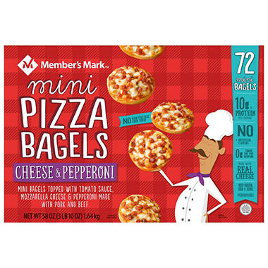 Member's Mark Mini Pepperoni Pizza Bagels (72 ct.)