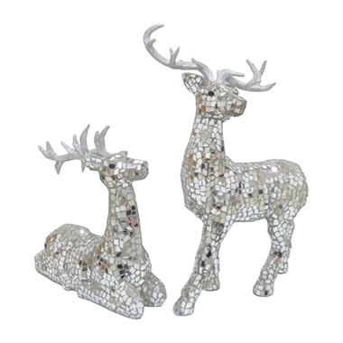 members mark mosaic deer set of 2 - Reindeer Images 2