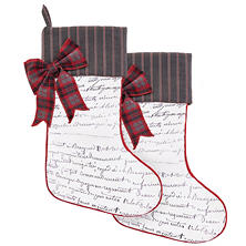 "Member's Mark 28"" Christmas Hanging Stocking, Set of 2 (Assorted Colors)"