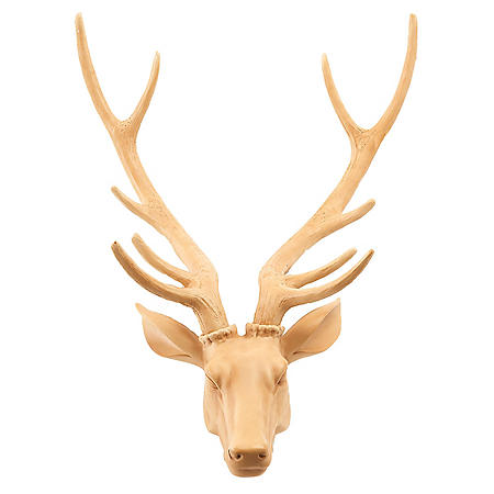 Member's Mark Deer Head Decoration, Natural