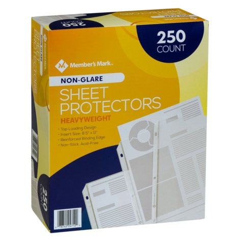 OFFLINE - Member's Mark Heavyweight Sheet Protectors, Select Type (250 ct.)