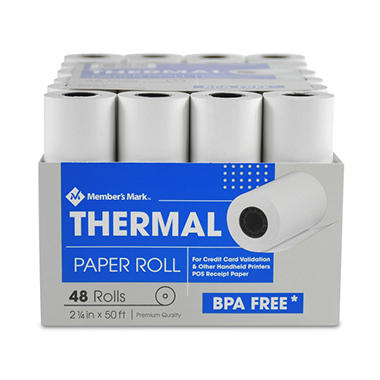 Member's Mark Thermal Receipt Paper Rolls, 2 1/4