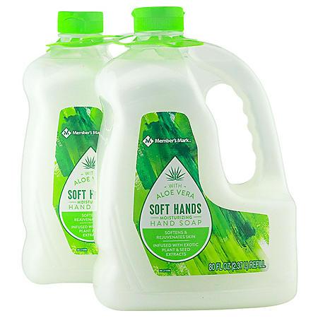 Member's Mark Moisturizing Hand Soap Refill, Aloe Vera (80 fl. oz., 2 pk.)