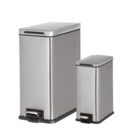Member's Mark Stainless Steel Trash Can, Set of 2 (Assorted Colors)