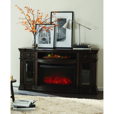 Memberu0027s Mark Trenton Wi Fi Smart Electric Fireplace And Media  Entertainment Mantel