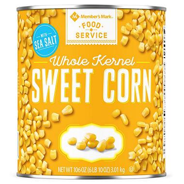 member s mark whole kernel corn 6 lbs 10 oz can sam s club