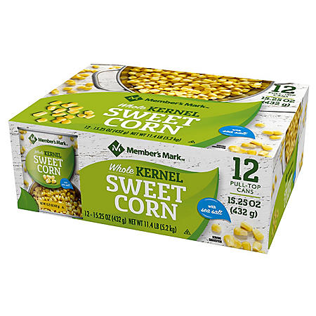 Member's Mark Whole Kernel Sweet Corn (15.25 oz., 12 ct.)