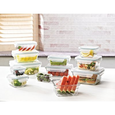 Members Mark 24 Piece Glass Food Storage Set by Glasslock Sams Club