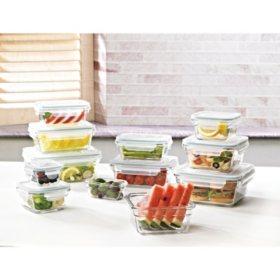 Member's Mark 24-Piece Glass Food Storage Set by Glasslock - Sam's Club