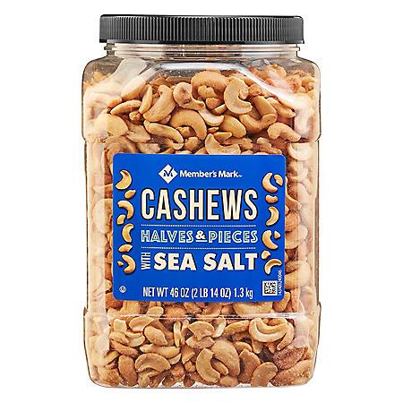 Member's Mark Roasted Cashew Halves with Sea Salt (46 oz.)