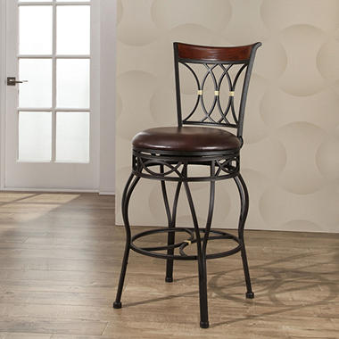 Member S Mark Clayton Adjustable Height Swivel Bar Stool
