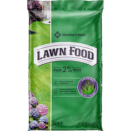 Member's Mark Lawn Food Plus 2% Iron 32-0-4, 30 lb. Bag