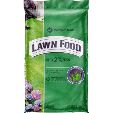 Member's Mark Lawn Food Plus 2% Iron 32-0-4, 30 lb. Bag