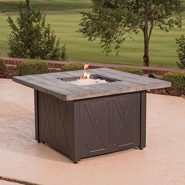 Outdoor Fireplace Tables. Top Rated Member s Mark 42  Square Outdoor LPG Fire Table Backyard Pits Sam Club