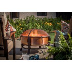 """30"""" Copper Fire Bowl"""