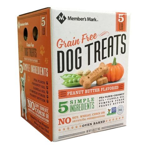 Member's Mark Grain Free Dog Treats, Peanut Butter Flavored (5 lb.)