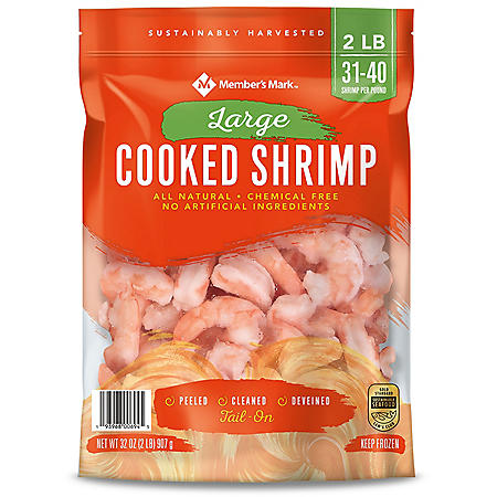Member's Mark Cooked Large Shrimp (2 lb. bag, 31-40 pieces per pound)