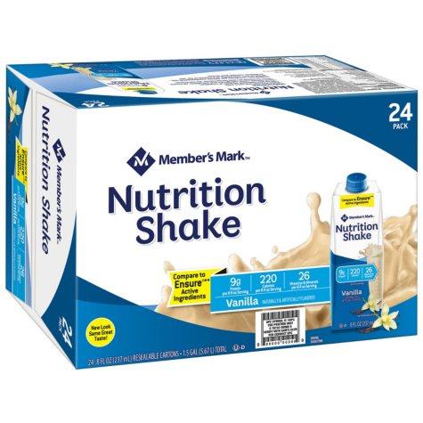 Member's Mark Nutritional Shake, Vanilla (8 oz., 24 ct.)