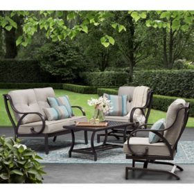 Member's Mark Harbor Hill Sunbrella Loveseat Set (Cast Ash)