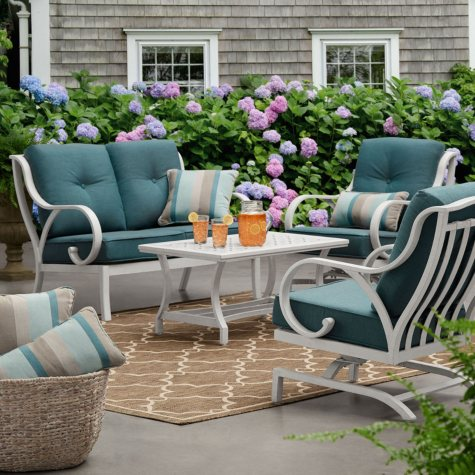 Member's Mark Harbor Hill Sunbrella Loveseat Set (Cast Lagoon)