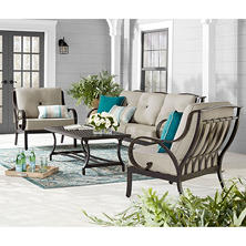 Member's Mark Harbor Hill Sunbrella Oversized Seating Set (Cast Ash)