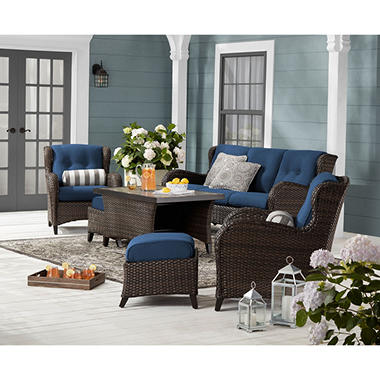 Member S Mark Agio Heritage Sunbrella Seating Set Indigo