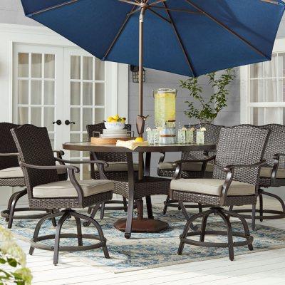 Memberu0027s Mark Agio Heritage Sunbrella Balcony Dining Set