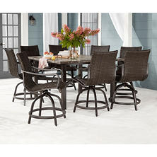 Member's Mark Agio Toronto 9-Piece Balcony Dining Set
