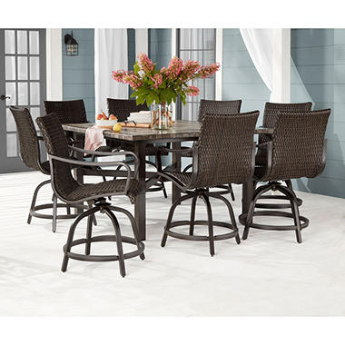 Genial Memberu0027s Mark Agio Toronto 9 Piece Balcony Dining Set