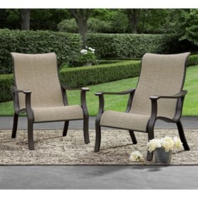 Member's Mark Agio Sling Accent Chair, 2 Pack