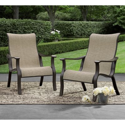 Memberu0027s Mark Agio Sling Accent Chair, 2 Pack
