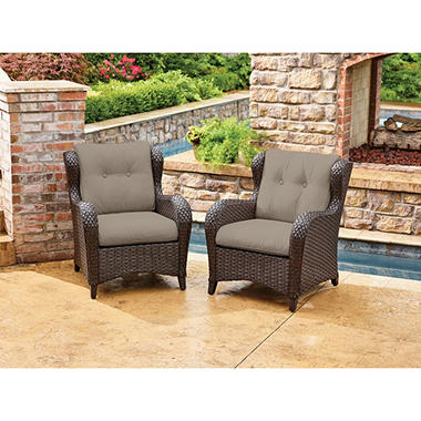 Member's Mark Agio Heritage Sunbrella Woven Club Chair, 2 Pack
