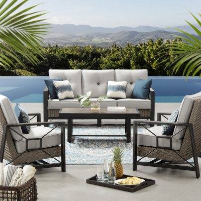 Superbe Memberu0027s Mark Southlake Sunbrella Seating Set