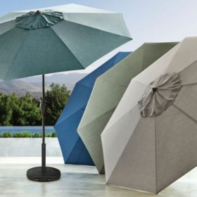 members mark premium 10 sunbrella market umbrellas various colors - Sunbrella Patio Umbrellas