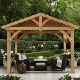Gazebos & Pergola Kits - Sam's Club on backyard umbrella ideas, backyard pier ideas, backyard doors ideas, backyard picnic area ideas, backyard hot tub ideas, backyard slide ideas, wooden garden bench decor ideas, backyard pond ideas, backyard tent ideas, backyard outdoor ideas, backyard landscape ideas, backyard restaurant ideas, backyard statue ideas, backyard shade ideas, backyard soccer ideas, backyard landscaping, backyard laundry ideas, backyard playground ideas, inexpensive backyard ideas, pergolas ideas,