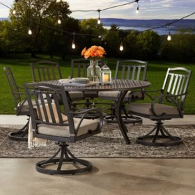 Member's Mark Harbor Hill 7-Piece Round, Cushioned Dining Set