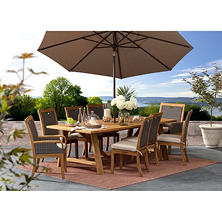 Member's Mark Sunbrella 9-Piece Dining Set, Teak