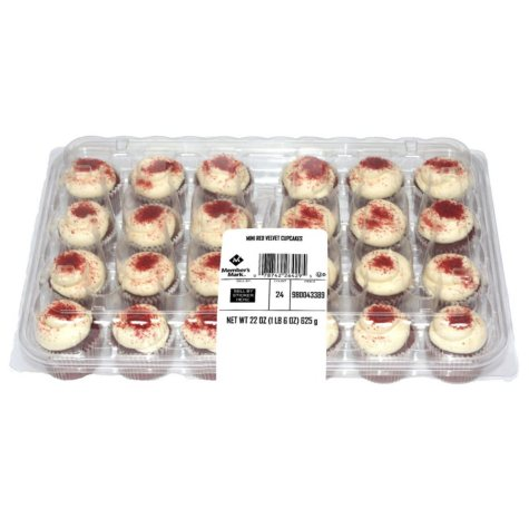 Member's Mark Mini Red Velvet Cup Cakes (24 ct., 22 oz.)