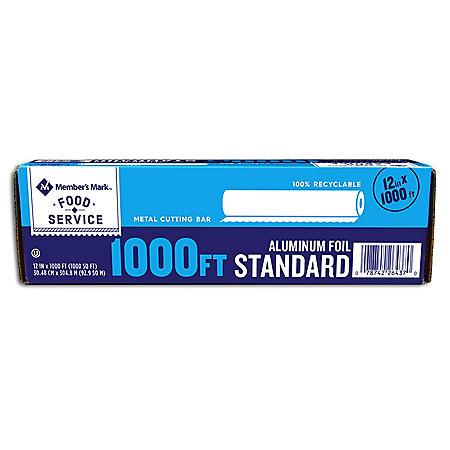 "Member's Mark Standard Foodservice Foil, 12"" x 1000'"