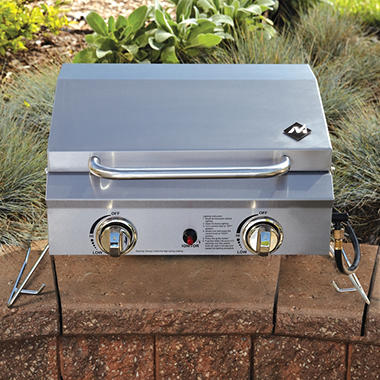 member's mark portable stainless steel 2-burner gas grill - sam's club