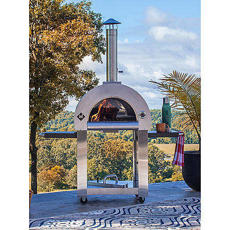 Members Mark Wood Fired Pizza Oven and Cart with Cover