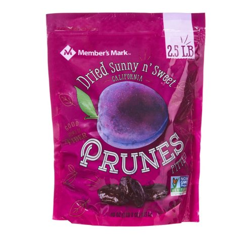 Member's Mark Dried Sunny n' Sweet California Prunes Pitted (2.5 lbs.)