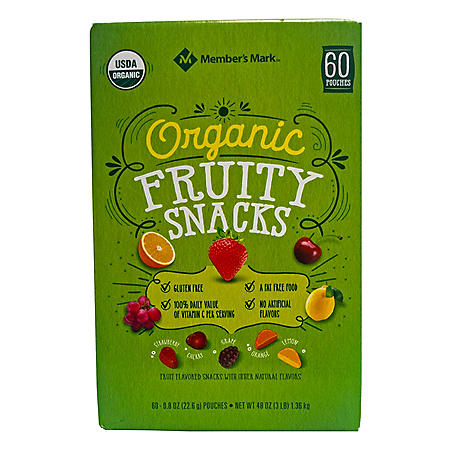 Member's Mark Organic Fruity Snacks (0.8 oz., 60 pk.)