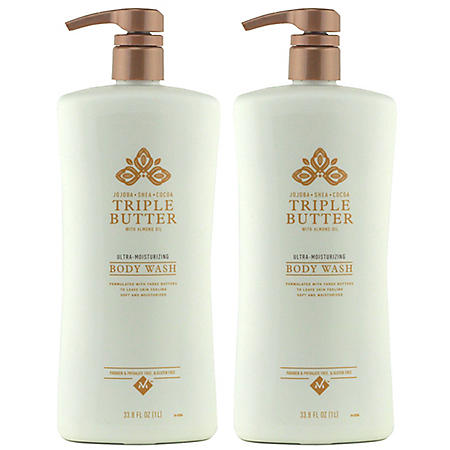 Member's Mark Triple Butter Ultra-Moisturizing Body Wash (33.8 fl. oz., 2 pk.)