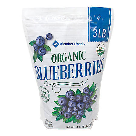 Member's Mark Organic Blueberries, Frozen (3 lbs.)
