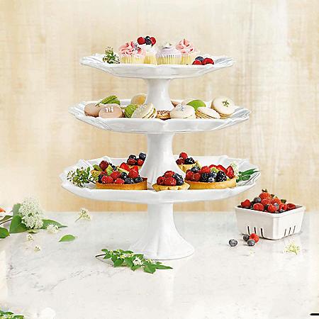 Member's Mark 3-Piece Pedestal Cake Stand Set