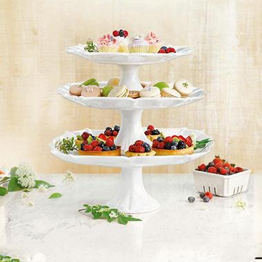 Member\u0027s Mark 3-Piece Pedestal Cake Stand Set & Member\u0027s Mark 3-Piece Pedestal Cake Stand Set - Sam\u0027s Club