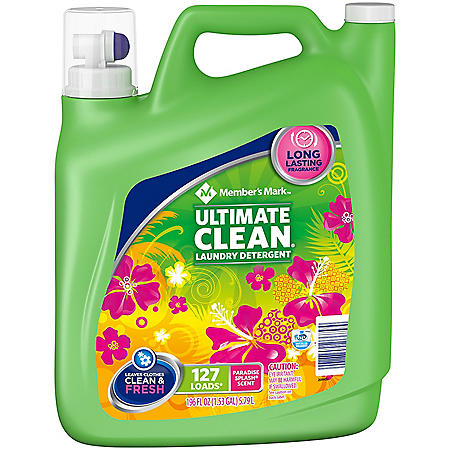 Member's Mark Ultimate Clean Liquid Laundry Detergent, Paradise Splash (127 loads, 196 oz.)