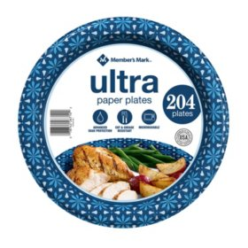 "Member's Mark Ultra Paper Plate, 10-1/16"" (204 ct.)"